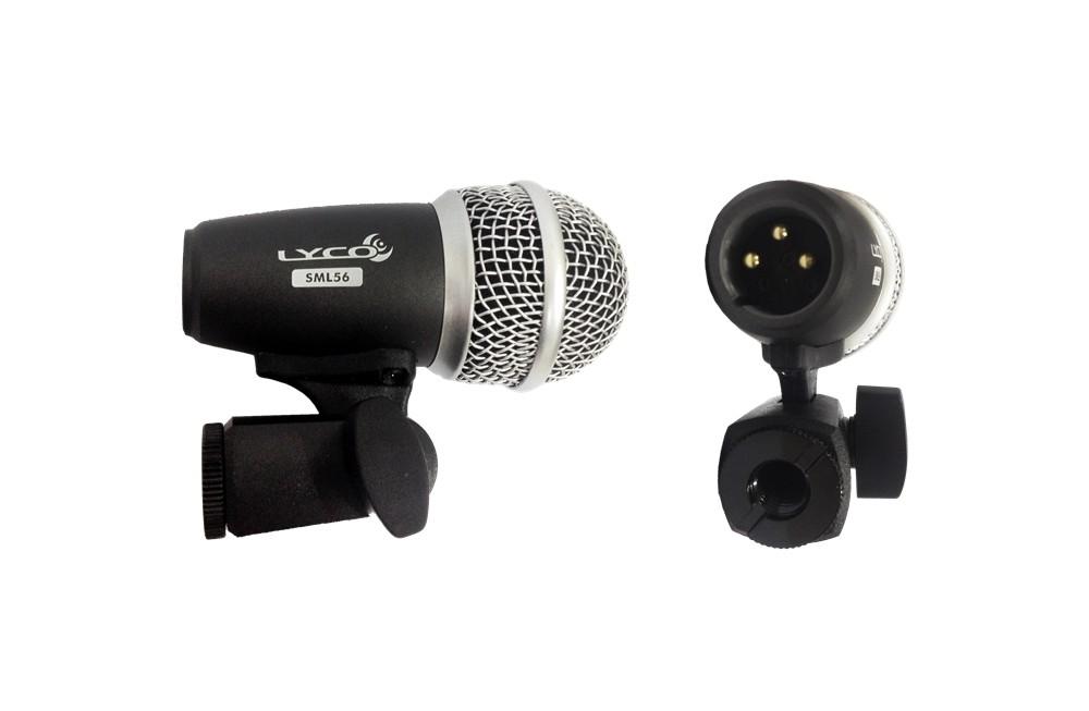 Microfone com Fio com Garra para Tom Bateria Lyco SML56