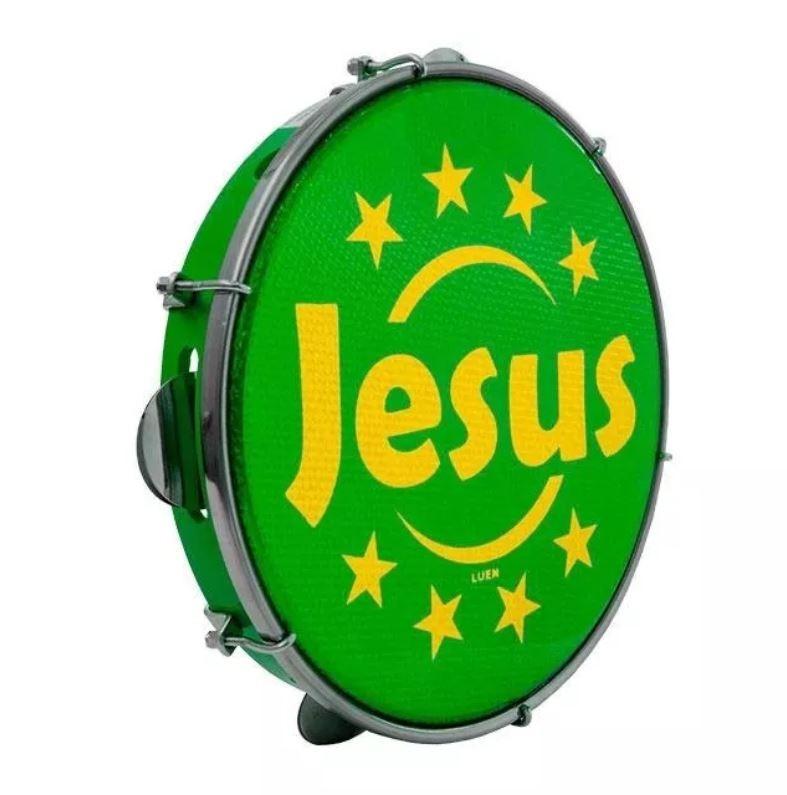 Pandeiro Luen Jesus 10 Polegada Abs Pele Holográfica