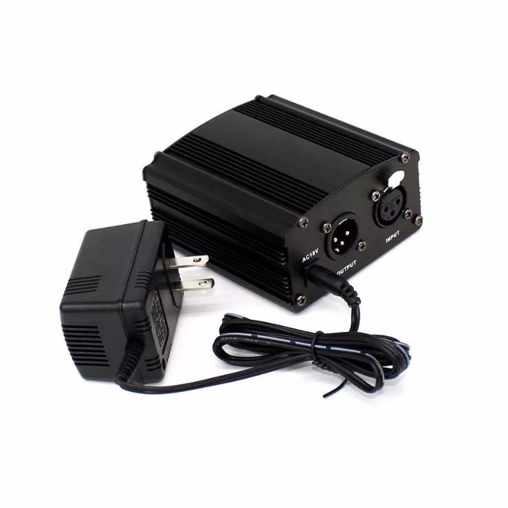 Phantom Power 48v Alimentação para Microfone Condensador