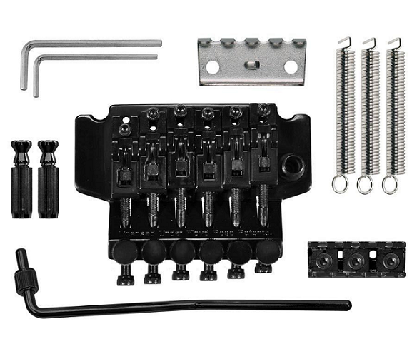 Ponte Floyd Rose Double Locking Com Tremolo Preto