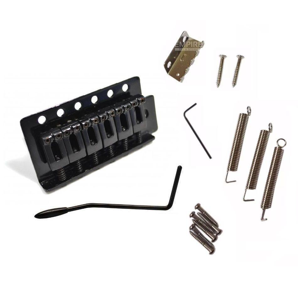 Ponte Para Stratocaster Com Tremolo Preto Kit Completo