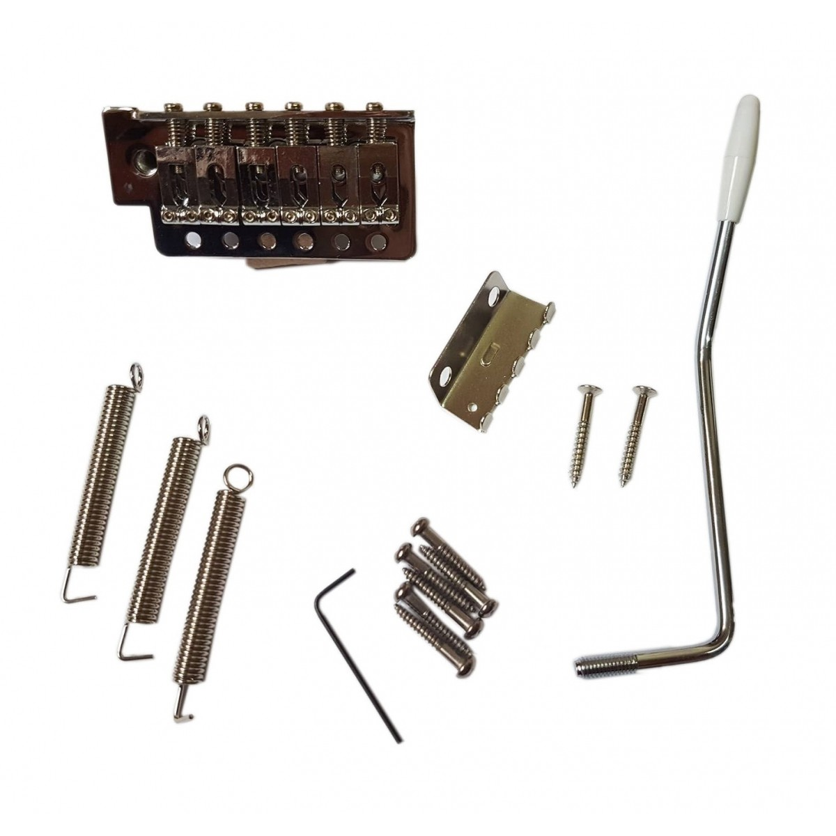 Ponte Strato Stratocaster Cromada para Guitarra Kit Completo