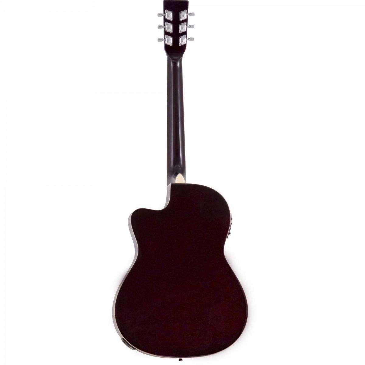 Violão Aço Elétrico Harmonics GE21 Natural Brilhante ou Preto