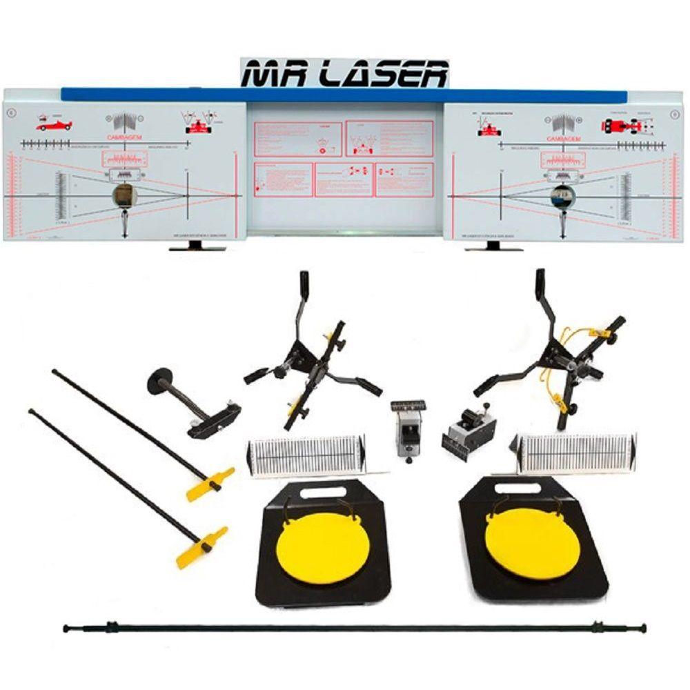 Alinhador de Direção Dianteiro à Laser Azul - RIBEIRO MRLASER