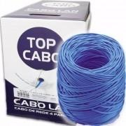 Cabo Rede Multi Lan Utp Cat5e 4 Pares Top Azul Caixa 305m