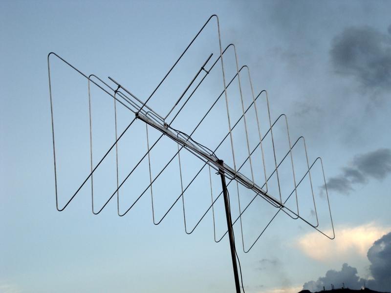 Antena Direcional Vhf Borboleta 7 Elementos - 15 Dbi