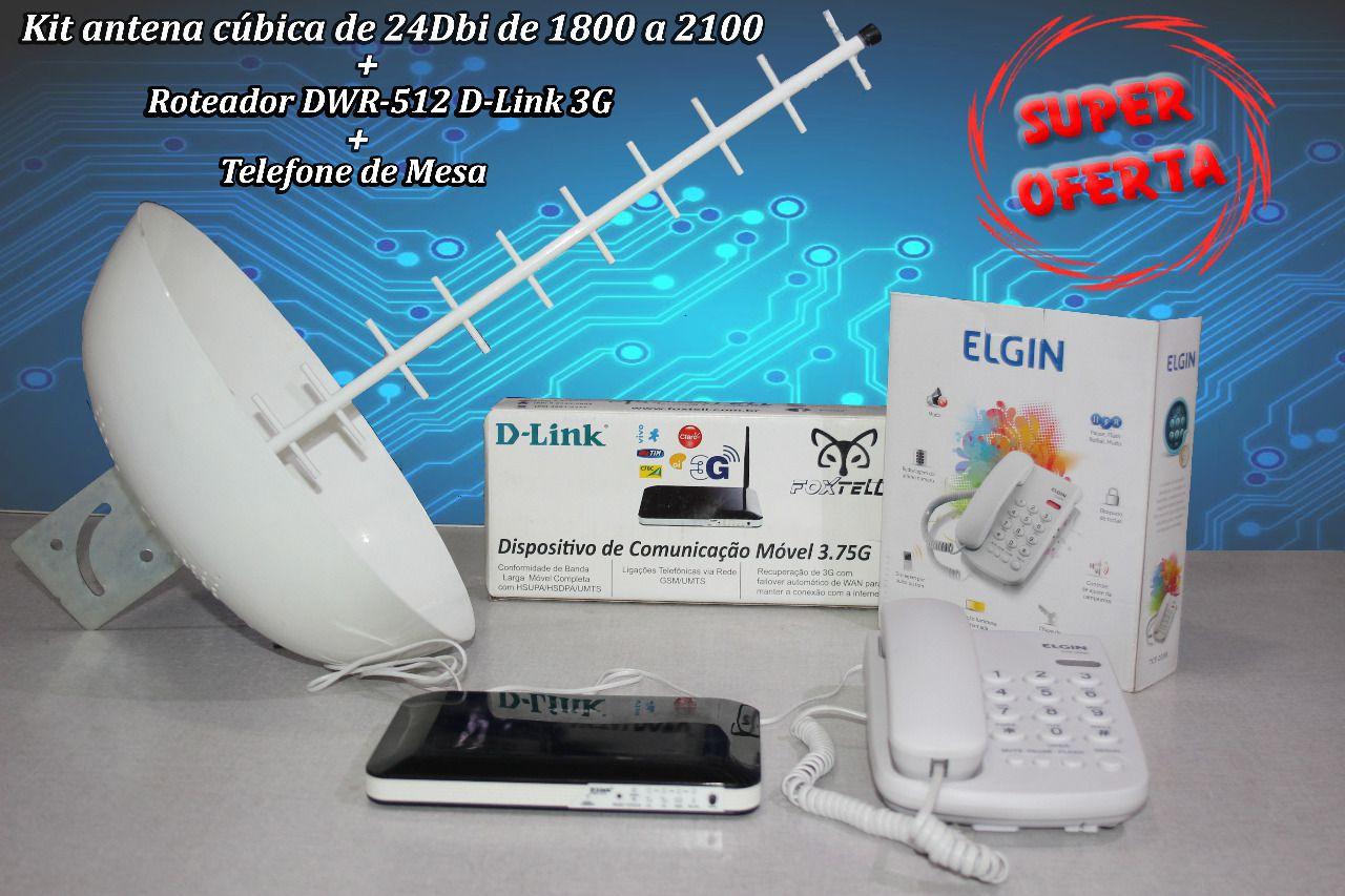 Roteador 3G  +  Antena Rural De 24db +  + Telefone De Mesa