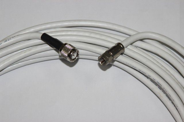 Cabo Coaxial Rg6 Com Conector FT/TNC 15 Met