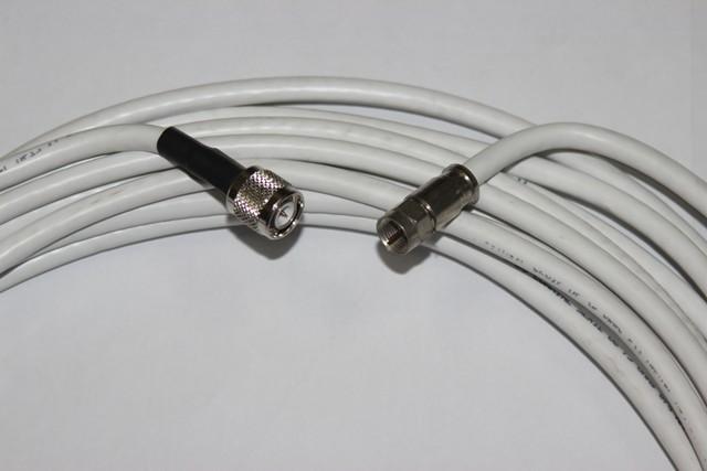 Cabo Coaxial Rg6 Com Conector FT/TNC 20 Met