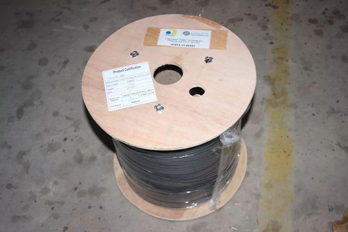 Cabo Fibra Óptica Drop-1 Fo C/ Sustentação 1000 Metros
