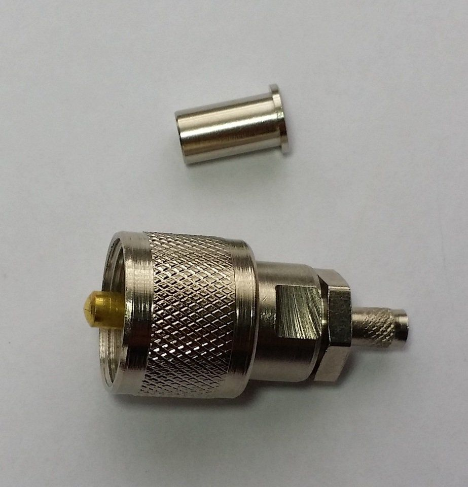 Conector UHF Macho Reto Crimp