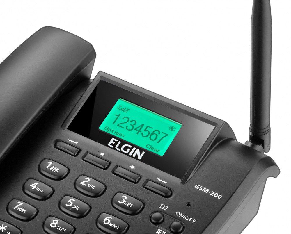 Elgin Telefone Celular Fixo GSM 200