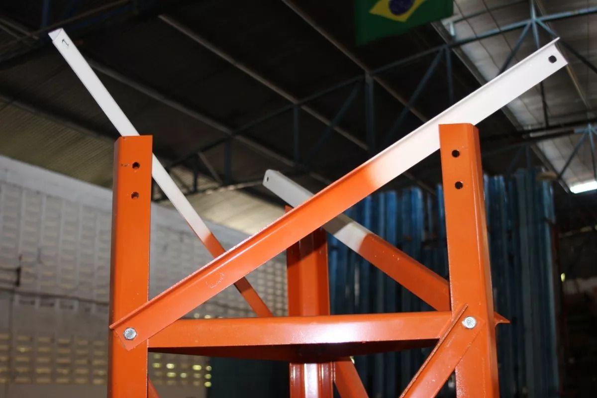Torre Estaiada 40x40x40 C/ Pintura E Parafuso Orgânico