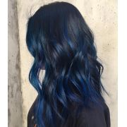 Aplique Tic Tac Colorido Pontas azul Liso 60 cm
