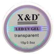 Gel Led UV  X&D 15g acrigel  transparente