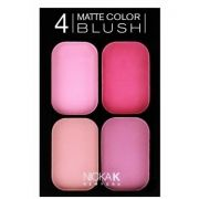 Paleta de blush matte 4 cores Nicka New York CBM01