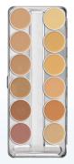 Paleta dermacolor 12 cores Kryolan Ref: A