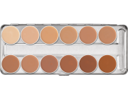 Paleta dermacolor 12 cores Kryolan Ref: C