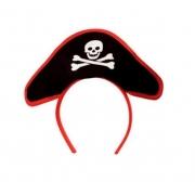 Tiara c/ Mini Chapéu Pirata Fantasia, Festa e Cosplay