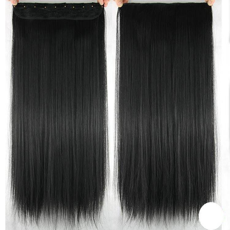 Aplique mega hair tic tac  sintético liso 60 cm