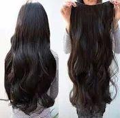 Aplique mega hair tic tac sintético ondulado 45 cm Castanho