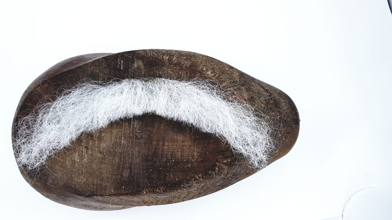 Bigode falso branco