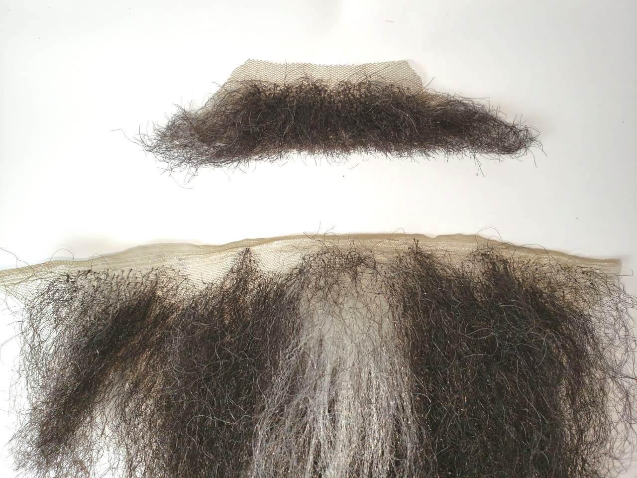 Bigode falso preto + barba