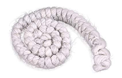 Cabelo crepe de lã para bigodes falsos e Pêlos faciais Grisalho claro