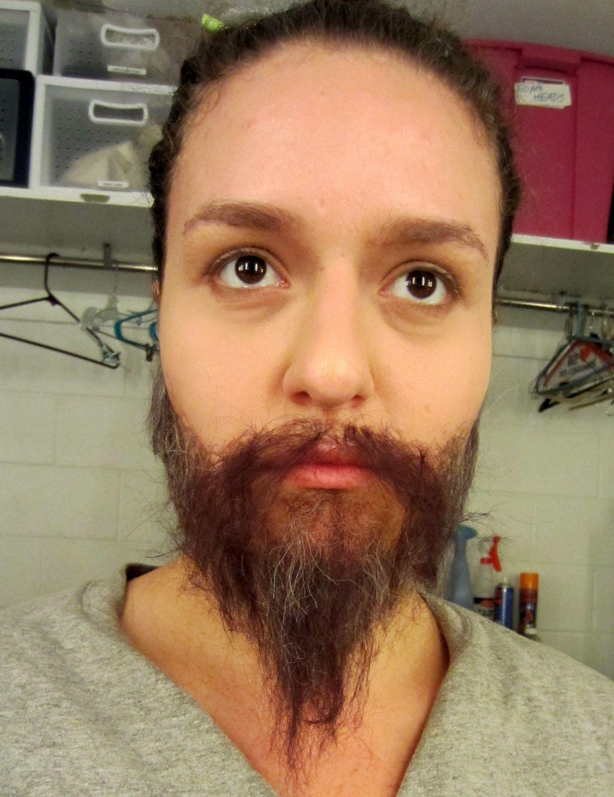 Cabelo crepe de lã para bigodes falsos e Pêlos faciais ruivo acobreado