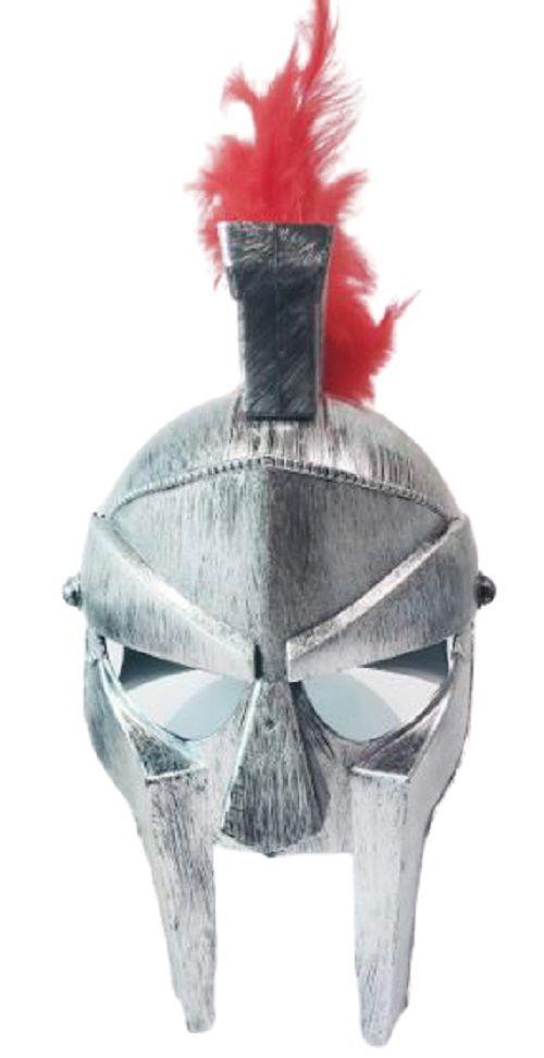 Capacete gladiador romano elmo com pena cosplay fantasia