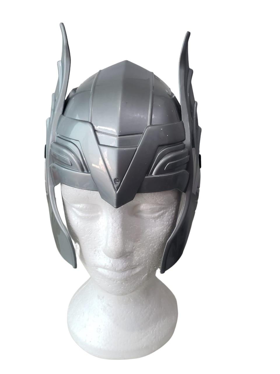 Capacete Thor Super Herói Vingadores Fantasia + martelo