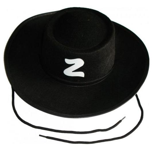 Chapéu do Zorro Preto Fantasia Festa Cosplay