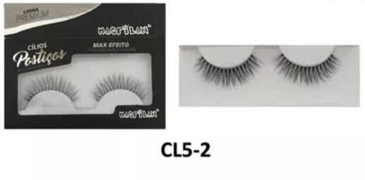cílios postiços cl5-2 max efeito fios naturais e longos linha premium - macrilan