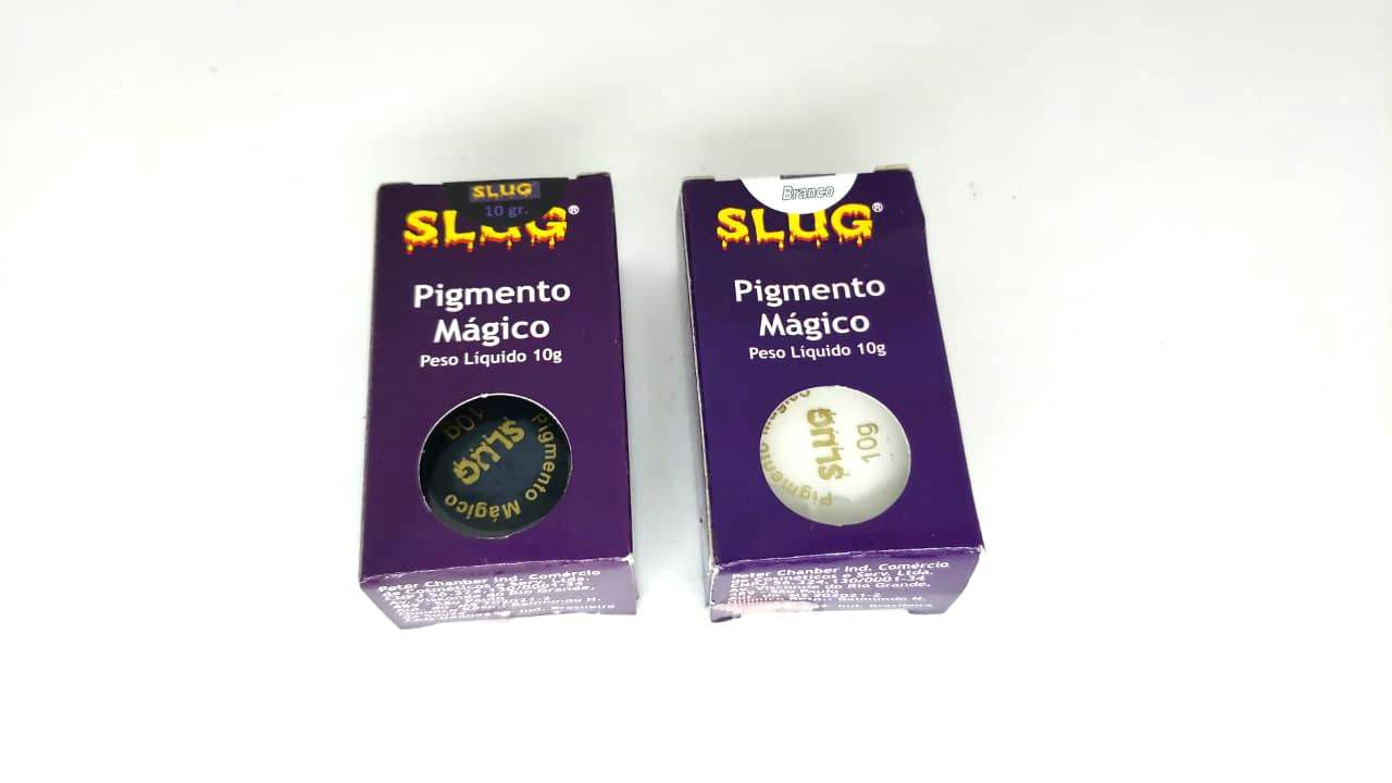 Combo de 2 Pigmentos Mágico cores Branco e preto Slug 10gr