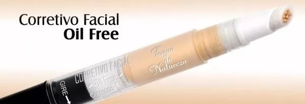 Corretivo Facial Oil Free 03 Bege Castanho Toque De Natureza