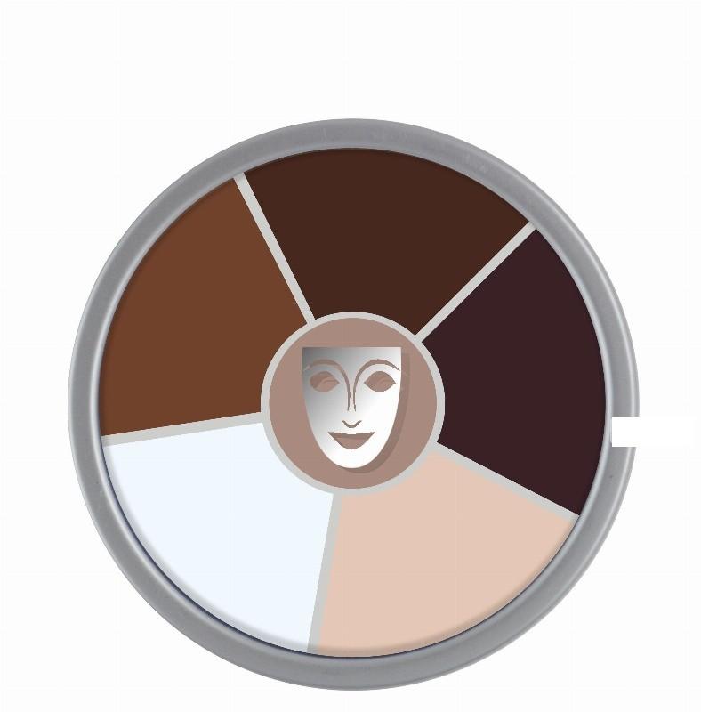 Cream Color circle 6 cores Old Age Kryolan 30gr