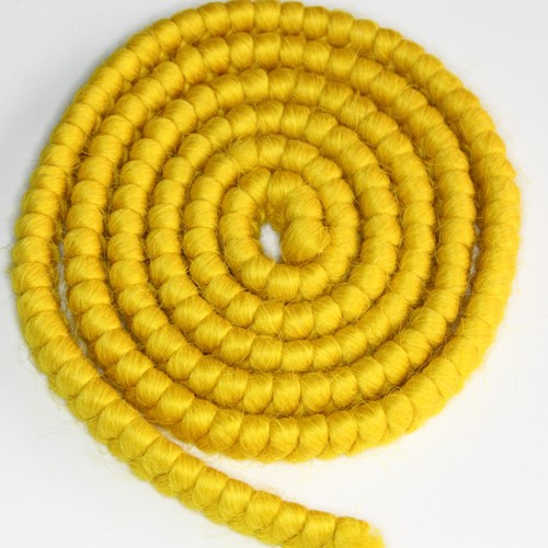 Cabelo crepe de lã para bigodes falsos e Pêlos faciais amarelo