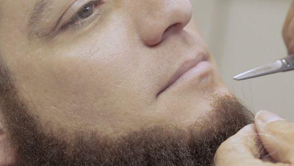 Cabelo crepe de lã para bigodes falsos e Pêlos faciais Grisalho médio