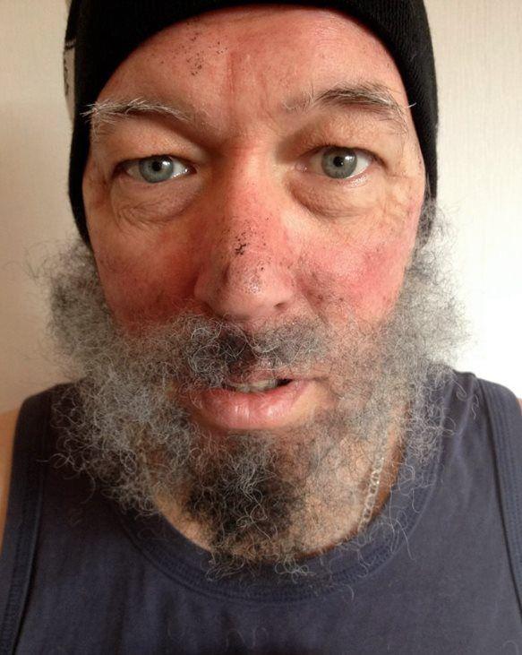 Cabelo crepe de lã para bigodes falsos e Pêlos faciais Verde