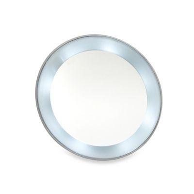 Espelho de Aumento 15x Com Luz De Led e Ventosa Klass Vough