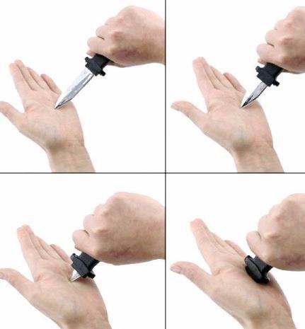 Faca de Mentira Canivete Falsa Retrátil Mágica Pegadinha