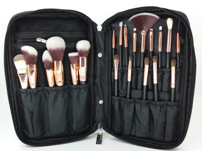 Kit 20 pinceis maquiagem profissionais Santa Make - Lynx Produtos de  Maquiagem ... b3f7747860
