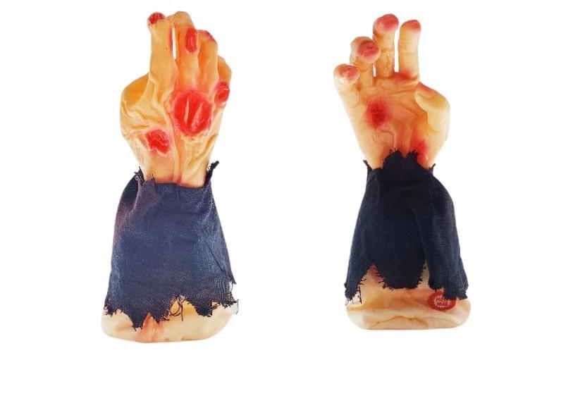 Kit 2 mãos elétricas que se movem com emissão de som decoração