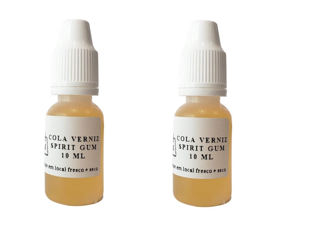 Kit 5 Colas Spirit Gum verniz 10ml para laces e perucas