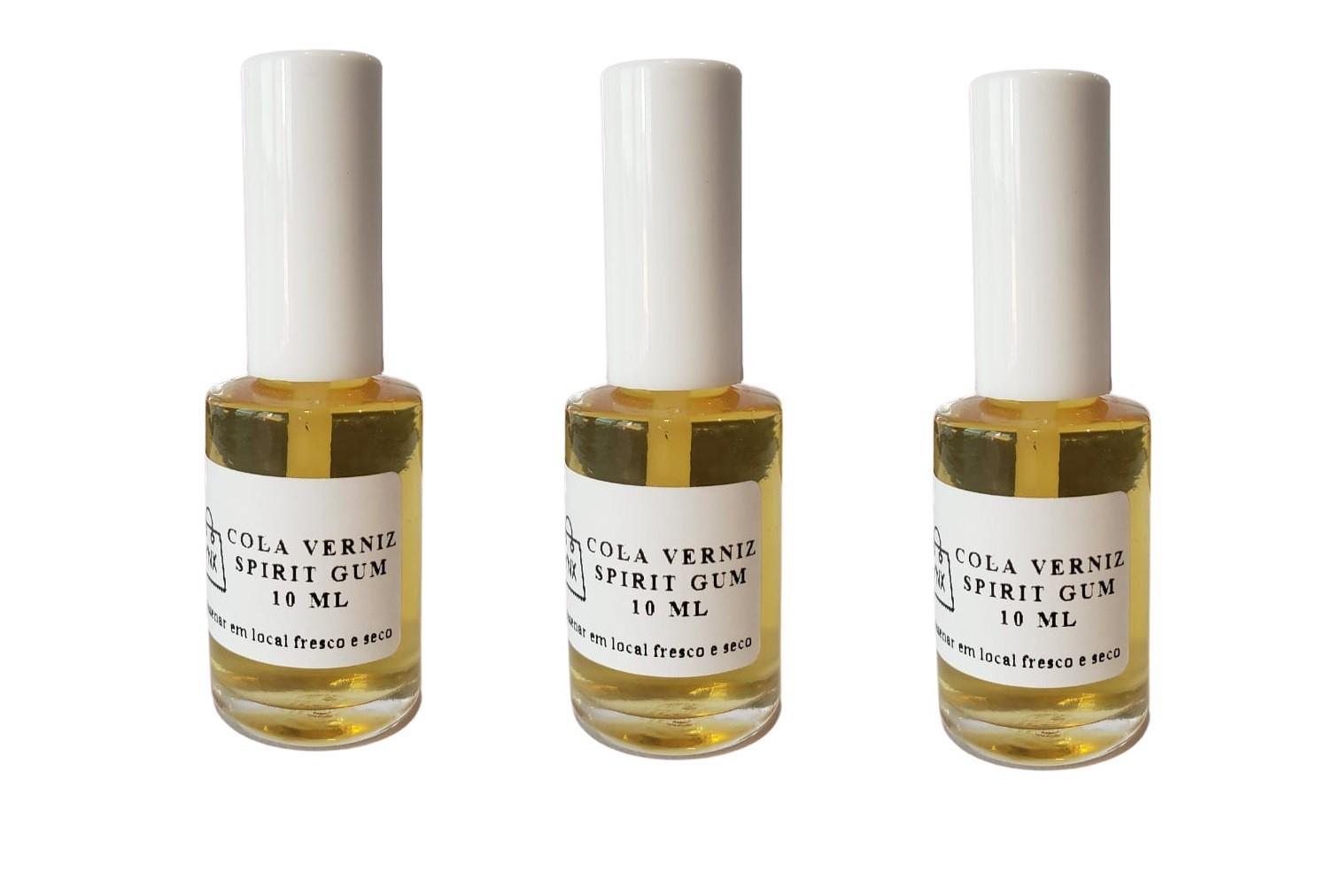 kit 5 Colas Spirit Gum verniz p/ laces e perucas c/ aplicador