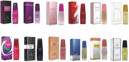 Kit 5 perfumes com Fragrancia de perfume importado Giverny