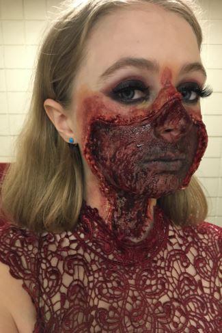Kit maquiagem de terror massa +látex + 3 pigmentos