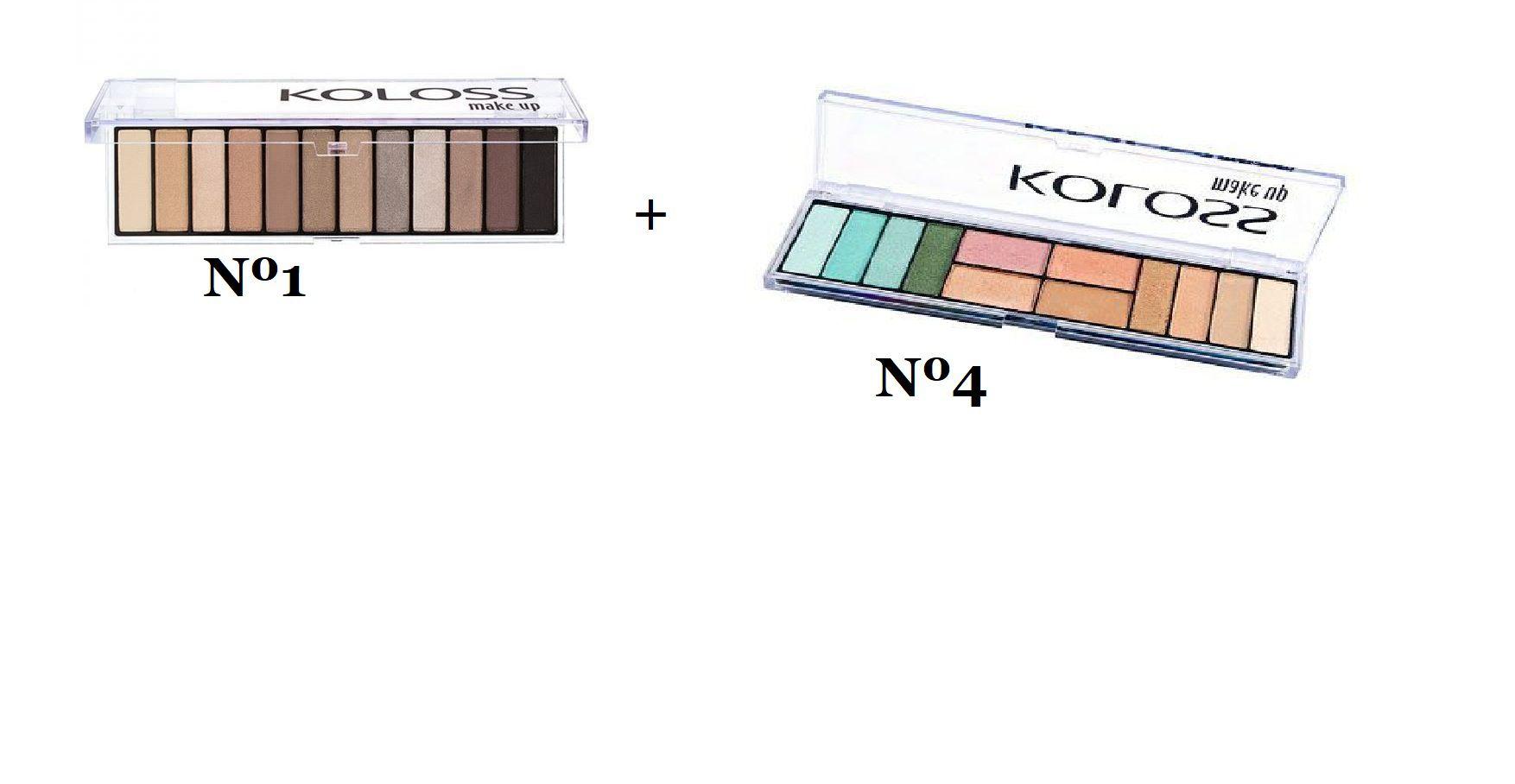 Kit paletas de sombras nº 1 + nº4 Koloss
