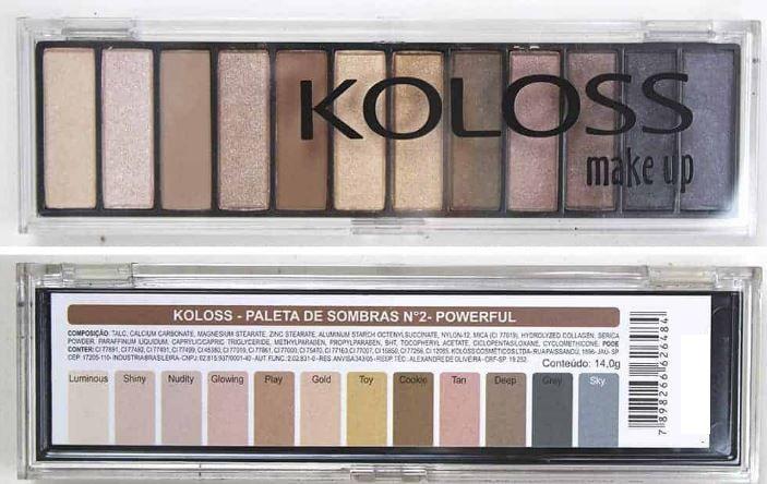 Kit Paletas de sombras nº2 e nº 4 Koloss