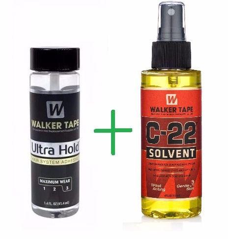 Kit Removedor C-22 118ml + Cola Ultra Hold 15 Ml Walker Tape